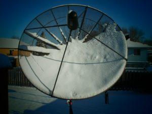 Сетчатая спутниковая антенна