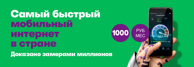 Интернет 1000 руб/мес