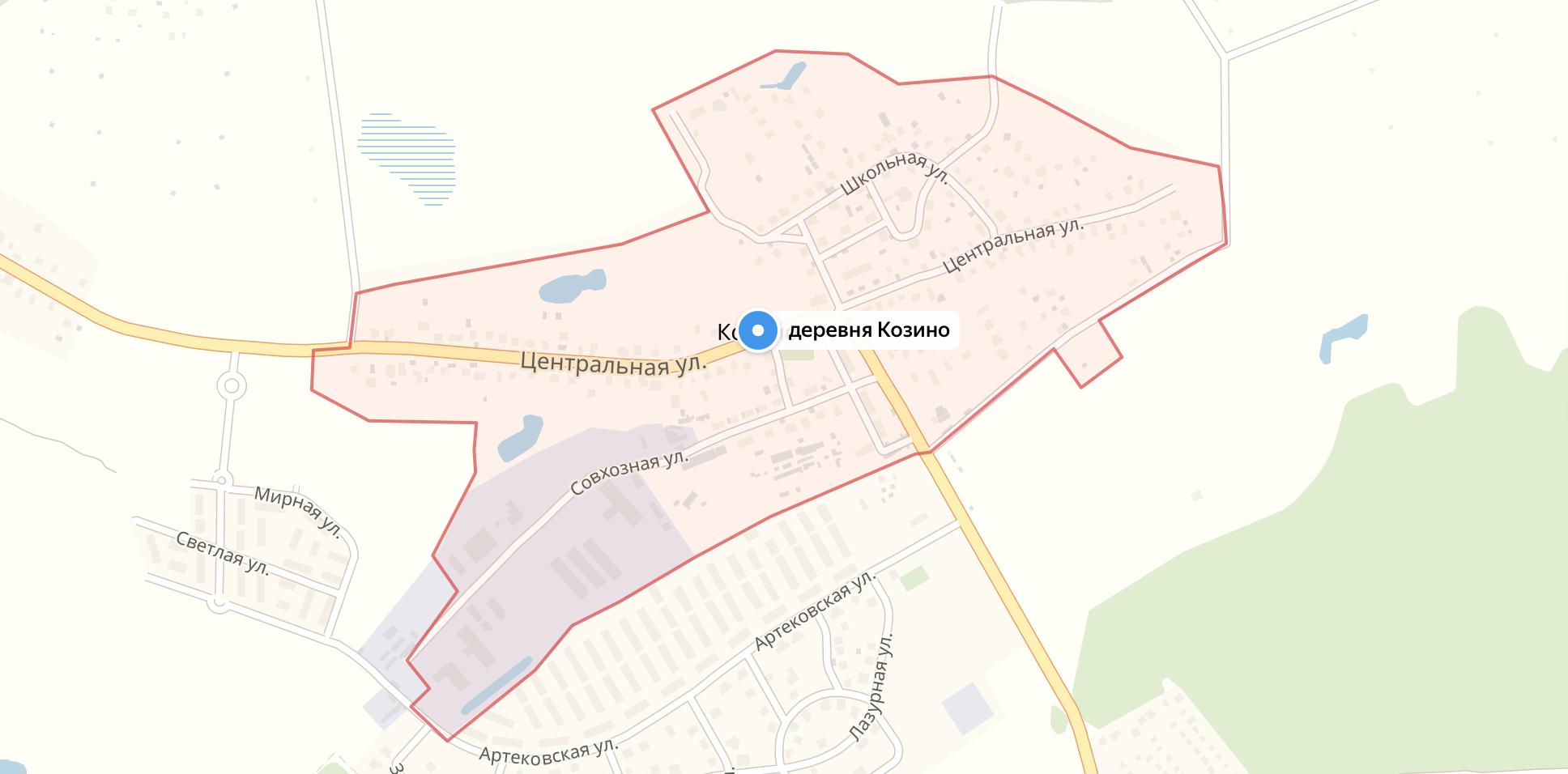 Подключить интернет в Козино (Красногорский район)