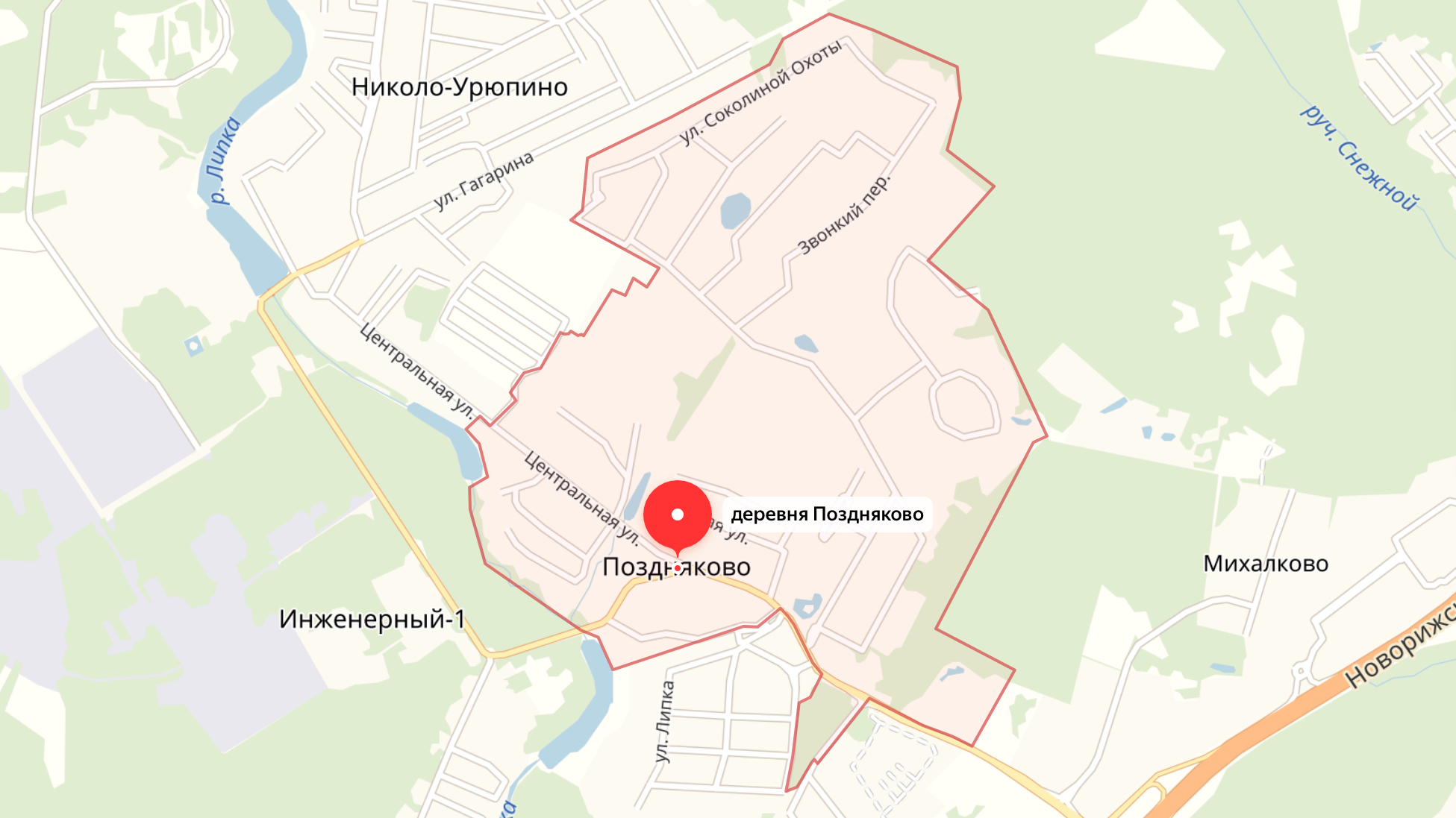 Подключить интернет в Поздняково (Красногорский округ)