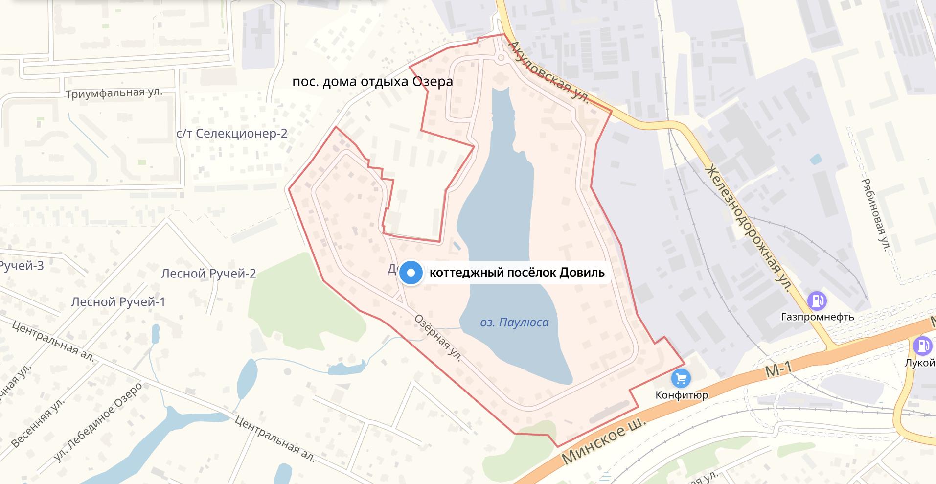 Подключить интернет в коттеджном посёлке Довиль