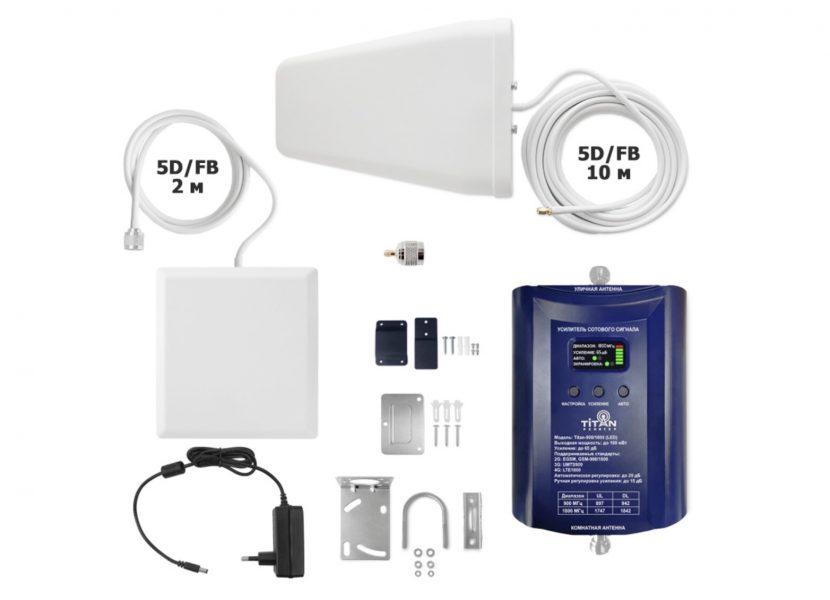 Комплект усиления сотовой связи VEGATEL Titan-900/1800 (LED)